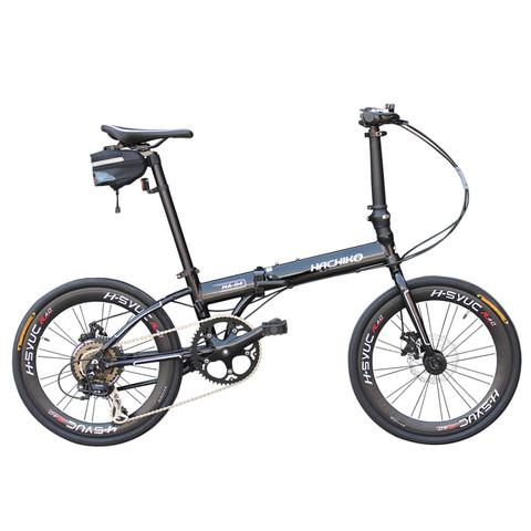 京东PLUS会员:大人行折叠自行车 20寸变速单车  H4-黑色+骑行套装