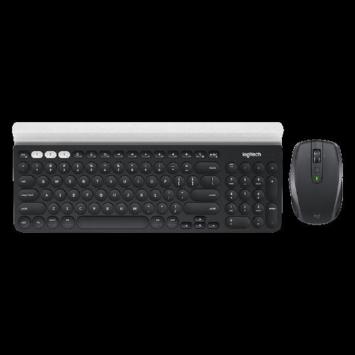 logitech 罗技 Logitech)K780多设备无线蓝牙键盘 搭配多款无线键鼠套装可选 K780+ANYWHERE 2S黑