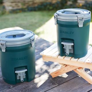 STANLEY 户外旅行便携饮水冰桶车载冷藏带手柄大容量保温桶 绿色7.5升