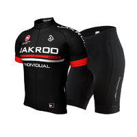 捷酷骑行服套装男短袖夏季 山地自行车骑行装备 骑行服 透气(XXL、男士红色套装)