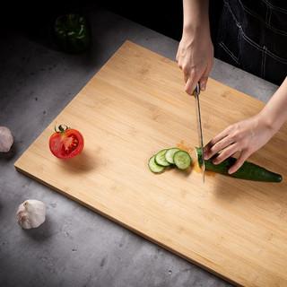Suncha 双枪厨房粘竹砧板剁骨板家用菜板 40*29.5*1.8cm(3-4人用) 精选楠竹