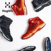 Haglofs火柴棍男款户外登山透气高帮越野防水徒步休闲鞋497860(44【UK9.5】、3VU 正黑色/灰白色)