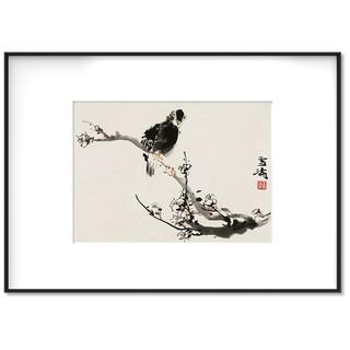 荣宝斋 王雪涛 复刻画《八哥》新中式 现代卧室 背景墙挂画 50*70cm
