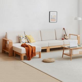 VISAWOOD 维莎原木 w0489-1 日式纯实木沙发 大三人位