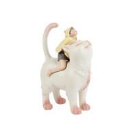 贾晓鸥《猫将军》雕塑 创意小礼物 伴手礼 30*23*18 氯乙烯树脂
