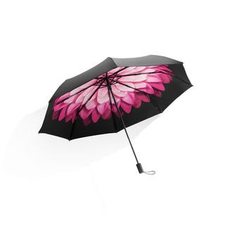 蕉下 小黑伞太阳伞防紫外线女雨伞女晴雨两用遮阳伞防晒伞 莲町 三折伞