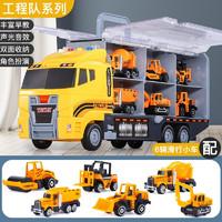 imybao 麦宝创玩  儿童卡车工程消防玩具车(6车-彩盒+邮购盒)