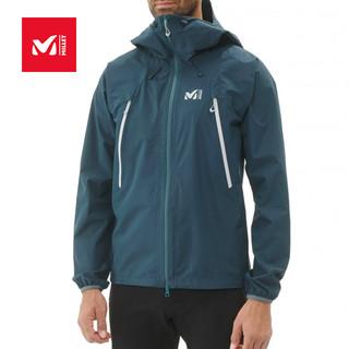 法国觅乐MILLET2.5层防风冲锋衣男女防水透气登山服外套MIV8263(M、男-印度蓝-8737)
