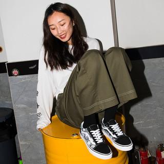 Vans范斯官方 骷髅印花男鞋女鞋Old Skool低帮潮板鞋运动鞋