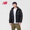 New Balance NB官方男款NPA4S021时尚经典LOGO运动休闲保暖羽绒服(XXL、BK NPA4S021)