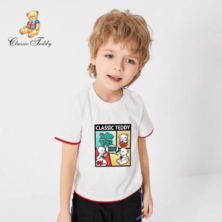 CLASSIC TEDDY 精典泰迪 精典泰迪Classic Teddy童装儿童T恤男女童短袖中小童上衣半袖薄款夏季宝宝衣服2021新款