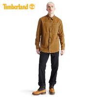 Timberland添柏岚男装时尚休闲工装衬衫式外套 A2AC4(S、A2AC4P47/小麦色)