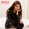 【IU同款】韩都衣舍2021春季新款黑色夹克工装复古港味炸街外套女(S、大象灰)