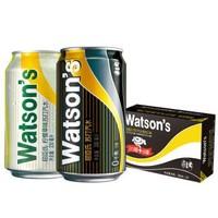 Watsons 屈臣氏 苏打水混合系列(原味黑罐20罐+柠檬草味4罐)调酒汽水饮料推荐 330ml*24罐 整箱装