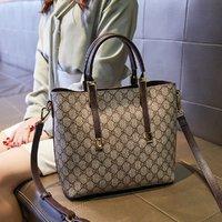 MARK FAIRWHALE 马克华菲 爆款经典老花托特包购物袋大容量女包单肩包斜挎包