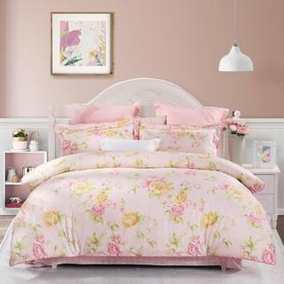 MERCURY 水星家纺 全棉活性印花四件套纯棉床单被套床上用品四件套
