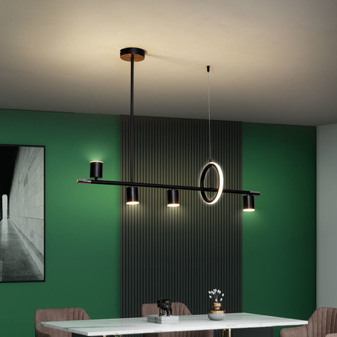 极简餐厅吊灯现代简约长条饭厅餐桌吧台灯具北欧艺术网红餐吊灯