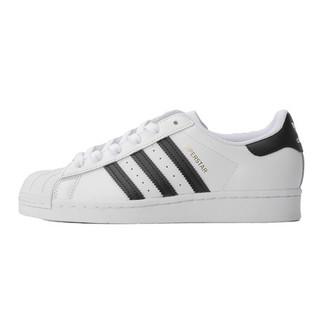 【直营】Adidas阿迪达斯三叶草潮人同款金标贝壳头情侣板鞋FU7712(39/UK6、白 FU7712)