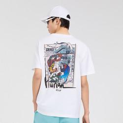 CABBEEN 卡宾 2021年春夏男款潮牌短袖T恤男式T恤城市文化系列套头短袖男