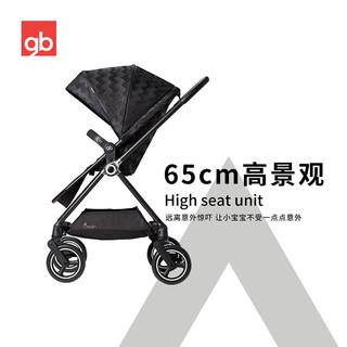 gb好孩子swan天鹅高景观碳纤维婴儿推车双向遛娃360旋转轻便轻奢(金羽毛 GB826-A-R288BB)