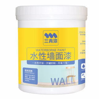 三青  内墙水性墙面乳胶漆 白色(带滚筒) 1.1KG