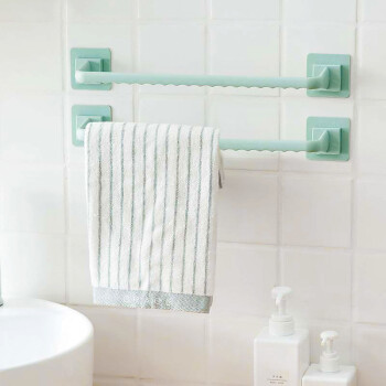 MENGTING 梦庭 浴室免打孔浴巾架 绿色