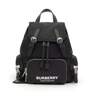 BURBERRY 博柏利 8021258 ECONYL®女士拼接印花抽绳双肩包 小号