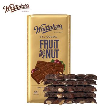 PLUS会员 : Whittaker's 惠特克  葡萄干扁桃仁巧克力 200g