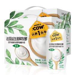 认养一头牛 常温原味儿童酸奶200g*12盒2箱早餐奶