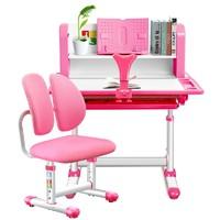 鑫嘉慕 儿童升降学习桌椅套装 配双背软椅