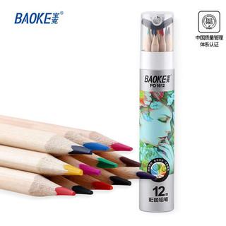 PLUS会员 : BAOKE 宝克  PO1612 原木油性彩铅 12色