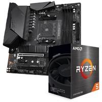 GIGABYTE 技嘉 B550M AORUS PRO M-ATX 主板 + AMD 锐龙 R5-5600X 处理器 板U套装