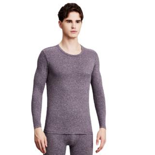 Miiow 猫人 男士保暖内衣套装 紫咖 L