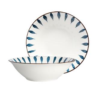 质邦 陶瓷拉面碗 8英寸 2只装