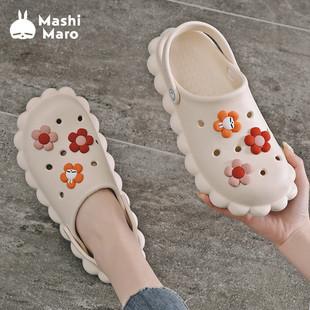 MashiMaro 矇矇兔  厚底洞洞鞋 5色可选