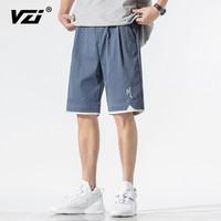 VZI 男士薄款五分裤夏季短裤