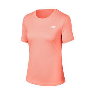SKECHERS 斯凯奇 2021春季新款女装女子短袖运动T恤衫女训练上衣