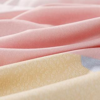 水星家纺纯棉全棉四件套高支高密简约北欧风被套套件床单床上用品(格林德沃、1.5m(5英尺)床)