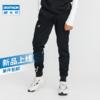 迪卡侬加厚跑步裤子男冬季户外健身束脚裤宽松卫裤男运动长裤MSXP(XXL、灰色-收口)