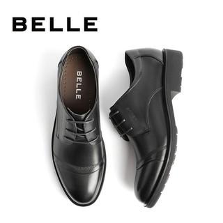 BeLLE 百丽 百丽男鞋商场同款牛皮系带婚鞋商务正装皮鞋3UX01CM9 黑色 41