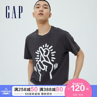 Gap 盖璞 Keith Haring联名 Gap男女装纯棉短袖T恤2021夏季新款