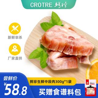 鳄珍 鳄鱼肉生鲜广东海南生态养殖 新鲜分割速冻装袋300g