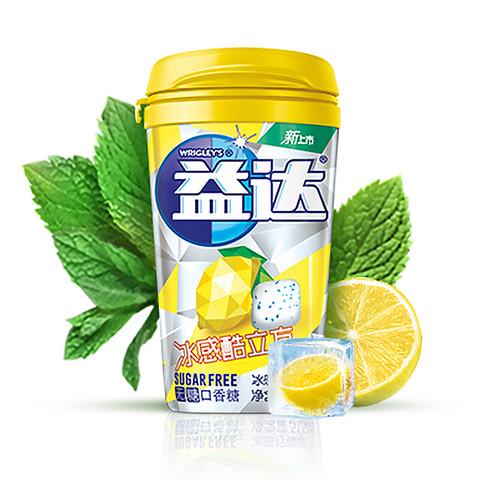 Extra 益达 冰感酷立方无糖口香糖柠檬味23粒 51.5g单瓶装