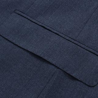 雅戈尔西服春秋新款商务休闲时尚男士羊毛蓝灰单西装外套正装2969(185/108A、蓝灰)