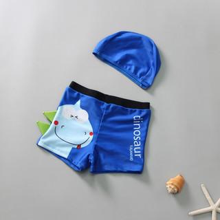 泳裤男童 平角带帽  深蓝恐龙 XXL建议身高100-110cm