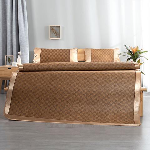 柚寝 天然藤席可折叠空调软席三件套150*200cm