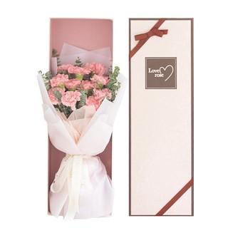 黑卡会员 : XianLiFeng 鲜里丰 粉色康乃馨鲜花礼盒 19支