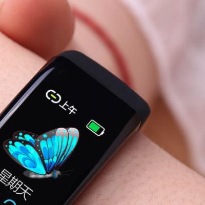 OLOEY zFQbNNTA 智能手环 典雅黑 硅胶表带(血压、心电图)