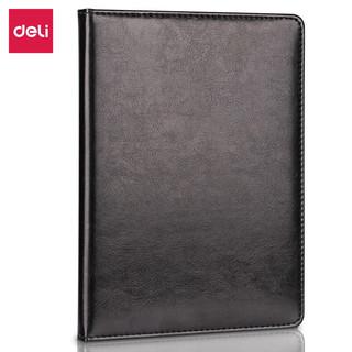 deli 得力 得力(deli) 25K 80张商务经典 单包贴芯PU材质 皮面本办公用品 黑