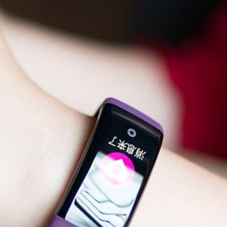 OLOEY zFQbNNTA 智能手环 神秘紫 硅胶表带(血压、心电图)